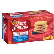 Aunt Jemima Lil Griddles Blueberry Mini Pancake, 14.5 Ounce -- 12 per case.