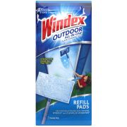 Windex Outdoor All In-One Glass Cleaning Tool Refill Pad -- 18 per case.