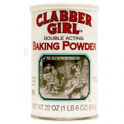 Clabber Girl Baking Powder, 22 Ounce -- 12 per case.