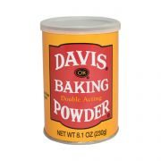 Clabber Girl Davis Baking Powder, 8.1 Ounce -- 12 per case.