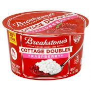 Breakstones Cottage Doubles Raspberry Cottage Cheese, 4.7 Ounce -- 12 per case.