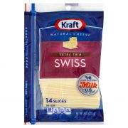 Kraft Deli Fresh Natural Swiss Sliced Cheese, 8 Ounce -- 10 per case.