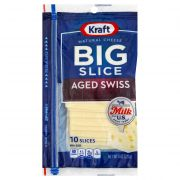 Kraft Big Slice Aged Swiss Cheese, 8 Ounce -- 10 per case.