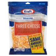 Kraft Natural Shredded Three Cheese, 8 ounce -- 12 per case
