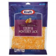 Kraft Zip Pak Natural Finely Shredded Colby and Monterey Jack Cheese, 8 Ounce -- 12 per case.