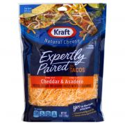 Kraft Zip Pak Natural Shredded Mexican Style Taco Cheese, 8 Ounce -- 12 per case.