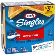 Kraft American Cheese Slices, 12 Ounce -- 12 per case