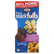 Kraft Trios Snacks - Dark Chocolate Colby Jack Banana Chips, 2.25 Ounce -- 10 per case.