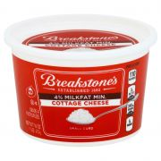 Kraft Breakstones Small Curd Brick Cottage Cheese, 16 Ounce -- 12 per case.