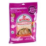 VV Supremo Shredded Mexican 2 Cheese Blend, 7.06 Ounce -- 12 per case.