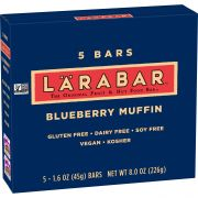 Larabar Blueberry Muffin Fruit and Nut Bar, 5 count per pack -- 8 per case.