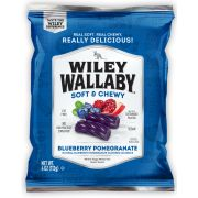 Wiley Wallaby Blueberry Pomegranate Soft and Chewy Candy, 4 Ounce -- 16 per case