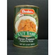 Dunbars Cut Yam Sweet Potatoes in Syrup, 15 Ounce -- 12 per case
