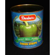Moody Dunbar Green Pepper Strips - no.10 can, 6 cans per case