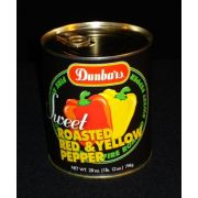 Dunbars Roasted Red and Yellow Pepper Pieces - 28 oz. can, 12 cans per case