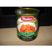 Dunbar Cut Yams Sweet Potatoes, 29 Ounce -- 12 per case.