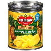 Delmonte Pineapple Wedges in Juice, 8.25 Ounce Can -- 12 per case.