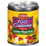 Del Monte 100 Calorie Cherry Chunky Mixed Fruit, 8.25 Ounce Pull Top Cans -- 12 per case