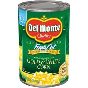 Del Monte Whole Kernel Sweet Gold and White Corn, 15.25 Ounce -- 12 per case.