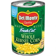 Del Monte Golden Supersweet Whole Kernel Corn Vegetable, 15.25 Ounce -- 24 per case.