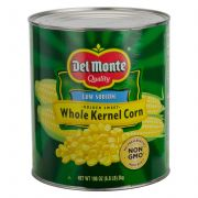 Del Monte Golden Sweet Whole Kernel Corn, 101 Ounce Can -- 6 per case.