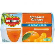 Del Monte Mandarin Oranges Fruit Cup, 4 Ounce -- 6 per case.