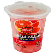 Del Monte Fruit Naturals No Sugar Added Red Grapefruit, 6.5 Ounce -- 12 per case.