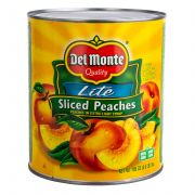 Del Monte Sliced Peaches in Extra Light Syrup, 105 Ounce Can -- 6 per case.