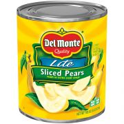 Del Monte Sliced Pears in Extra Light Syrup, 105 Ounce Can -- 6 per case.