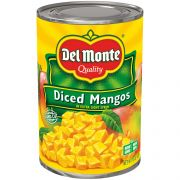 Del Monte Diced Mangos In Extra Light Syrup, 15 Ounce -- 12 per case.
