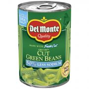 Del Monte Low Sodium Easy Open Cut Green Beans, 14.5 Ounce -- 12 per case.