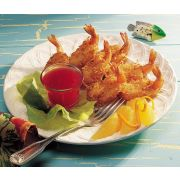 Tampa Bay Fisheries 8 to 12 Count Coconut Butterfly Breaded Shrimp -- 4 per case.