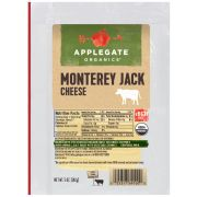 Applegate Organic Monterey Jack Cheese, 5 Ounce -- 12 per case.