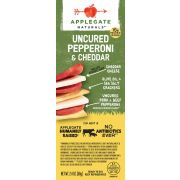 Applegate Naturals Uncured Pork Beef Pepperoni and Cheese Cracker, 2.4 Ounce -- 6 per case.