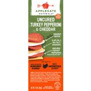 Applegate Naturals Turkey Pepperoni and Cheese Cracker, 2.4 Ounce -- 6 per case.
