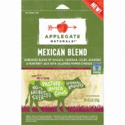 Applegate Natural Mexican Blend Shredded Cheese, 6 Ounce -- 12 per case.