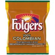 Folgers Decaffeinated Colombian Ground Coffee, 1.4 Ounce -- 42 per case.