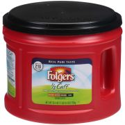 Folgers Half Caffeinated Ground Coffee, 25.4 Ounce Canister -- 6 per case