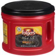 Folgers Black Silk Caffeinated Ground Coffee, 24.2 Ounce Canister -- 6 per case