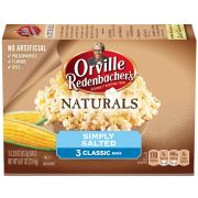 Orville Redenbachers Natural Simply Salted Microwave Popcorn, 9.9 Ounce -- 12 per case