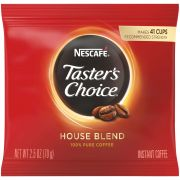 Tasters Choice Freezer Dried Coffee - 2.5 oz. pouch, 24 pouches per case