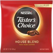 Tasters Choice Freezer Dried Coffee - 3.7 oz. pouch, 20 pouches per case