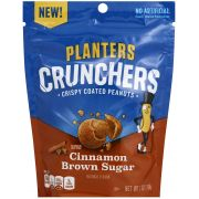 Planters Cinnamon and Brown Sugar Crunchers Crispy Coated Peanuts, 7 Ounce -- 8 per case.