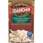 Idahoan Roasted Garlic and Parmesan Baby Reds Mashed Potatoes, 4.1 Ounce -- 10 per case.