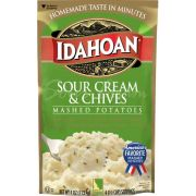 Idahoan Sour Cream and Chives Mashed Potatoe, 4 Ounce Pouch -- 12 per case.
