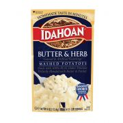 Idahoan Butter and Herb Mashed Potatoes, 4 Ounce Pouch -- 12 per case.
