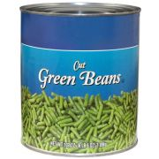 Commodity Canned Fruit and Vegetables 4 Sieve Fancy Green Beans, Number 10 Can -- 6 per case