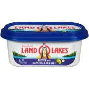 Land O Lakes Spreadable Butter with Olive Oil and Sea Salt, 7 Ounce -- 12 per case.