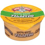 Land O Lakes Mucho Queso Jalapeno Cheddar Cheese Dip, 3 Ounce Cup -- 140 per case.