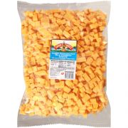 Land O Lakes Mild Reduced Fat Yellow Cheddar Cheese Cube, 5 Pound -- 4 per case.